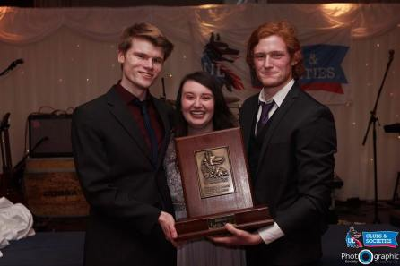 Sean and Ciara with Best Soc award